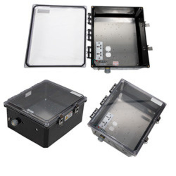 L-com Now Stocks Polycarbonate NEMA-Rated Equipment Enclosures with Clear Lids for Easy Troubleshooting & Monitoring
