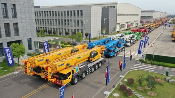 XCMG ส่งมอบรถเครนกว่า 100 คันให้ลูกค้าทั่วโลก