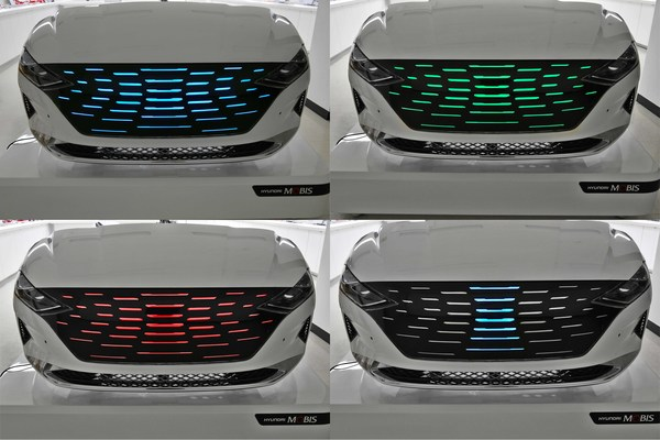 Hyundai Mobis developed new 'lighting and moving grille'