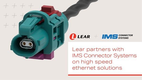 李尔与IMS Connector Systems公司合作共研高速以太网解决方案