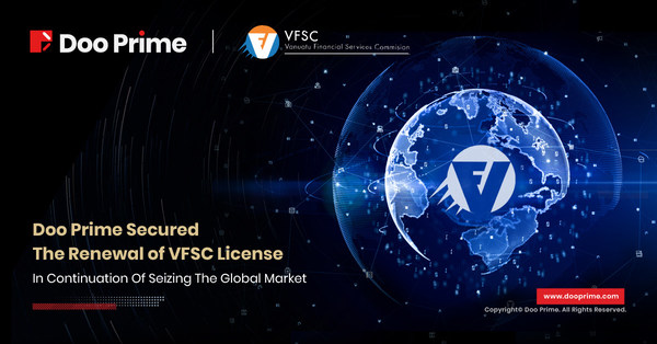 Doo Prime is pleased to announce that Doo Prime Vanuatu Limited success in the renewal of the financial dealer's license from the Vanuatu Financial Services Commission (VFSC).