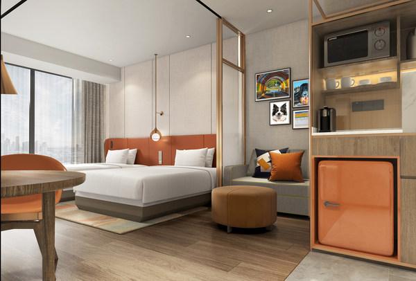 客房采取创新的空间布置和细致的居家便利设施,让宾客享受自在的生活节奏