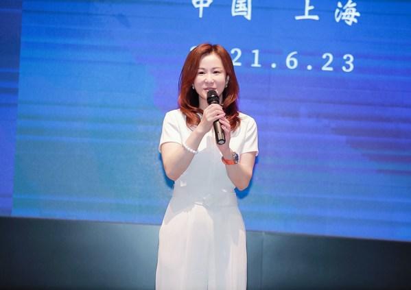 (图/朗绿科技创始合伙人 CEO 申乐莹女士现场致辞)