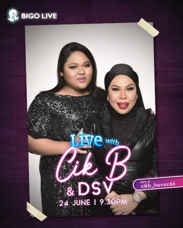 Malaysia's Cik B to Unveil Emotional Surprise for Cosmetic Tycoon, Datuk Seri Vida on Bigo Live