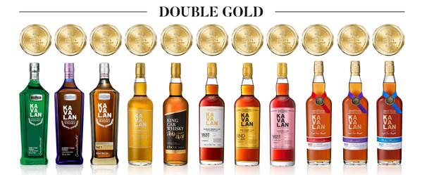 金車噶瑪蘭為本屆SFWSC舊金山世界烈酒競賽中獲頒最多雙金牌殊榮的酒廠,共計帶回11面雙金牌!僅有受到所有評審小組成員認可的金牌酒款,才能升等獲得雙金牌,顯示噶瑪蘭威士忌的高品質深受評審肯定。
