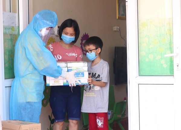 Thousands of Vinamilk nutrition products have been offered to children in COVID-19 quarantine areas in Vietnam