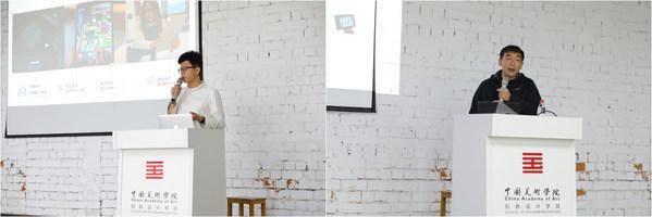 易现EZXR创始合伙人兼CTO丛林(左)、产品运营总监李峰(右)主讲专业教学系列讲座