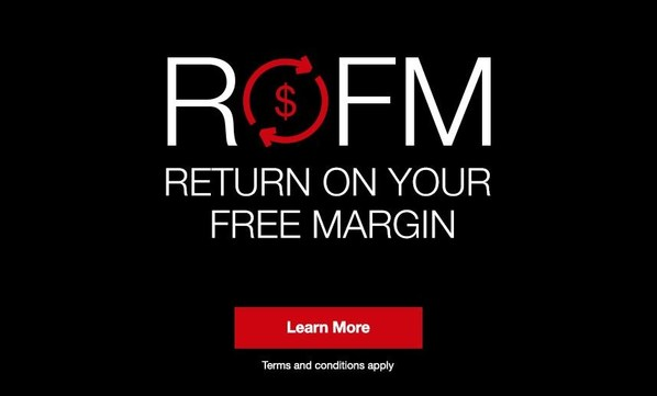 RETURN ON YOUR FREE MARGIN- Earn up to 3%