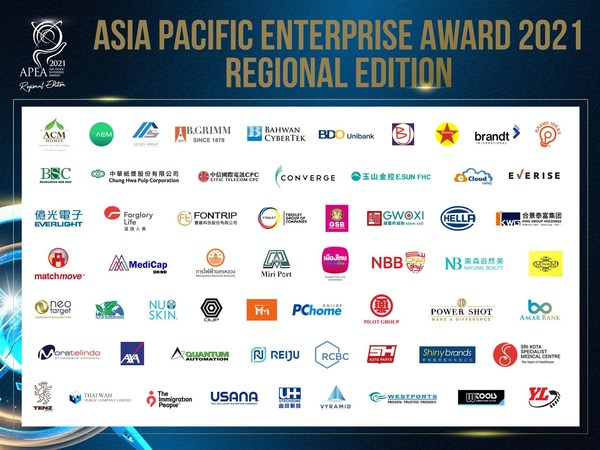 The Asia Pacific Enterprise Awards 2021 Regional Edition revealed 59 outstanding winners.