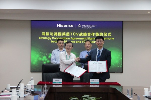 Hisense dan TÜV Rheinland menandatangani perjanjian kerjasama strategik