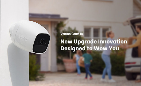 Vacos Is Back with Vacos Cam IR Version, a 100% Wire-Free Green AI Security Camera Goes Everywhere