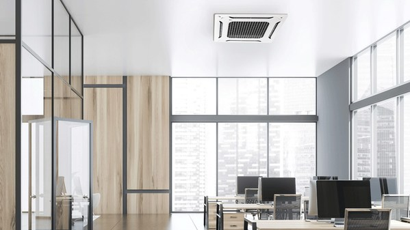 LG DUAL Vane Cassette installed in the high-rise office setting