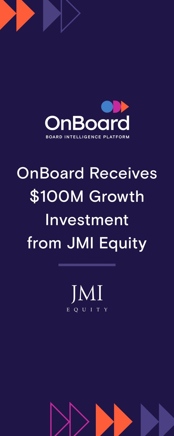 OnBoard Receives $100M Growth Investment from JMI Equity