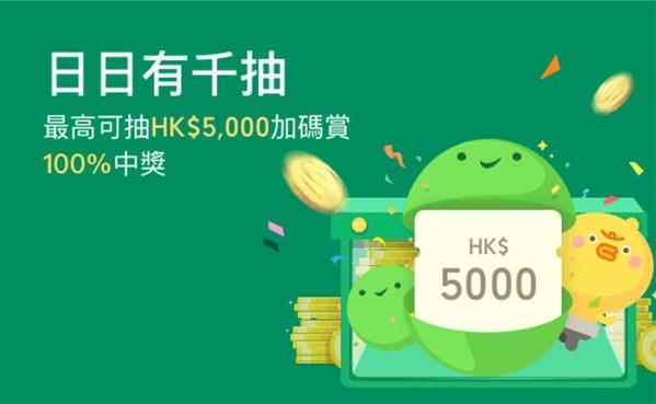 選用WeChat Pay HK領取消費券 完成登記後即可參加「日日有千抽」大抽獎