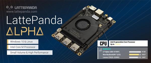 LattePanda Alpha - Palm-Sized and Low-Power Windows 10 SBC