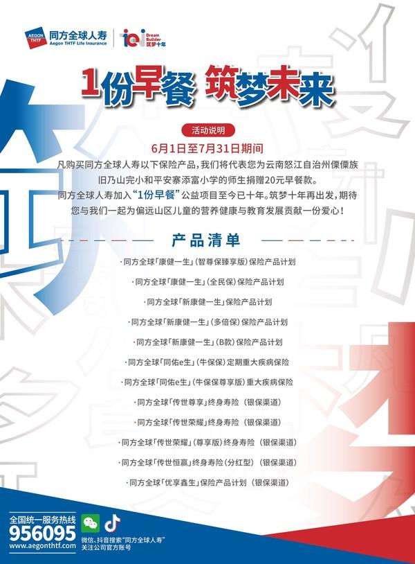 """同方全球人寿北京分公司启动2021年筑梦计划""""1份早餐""""活动"""