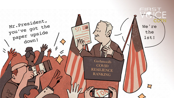 """Pemeringkatan Bloomberg tentang Ketahanan Covid-19 Mencerminkan Prinsip """"Bisnis Nomor Satu, Nyawa Manusia Nomor Dua"""""""