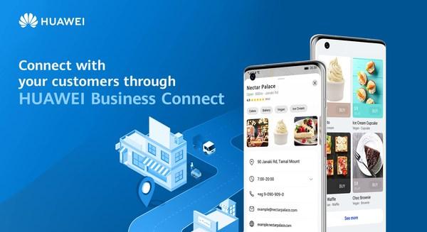 """""""Business Connect"""" dari Huawei Mobile Services adalah platform bagi pebisnis untuk membuat dan mengelola profil dan daftar informasi usahanya. Seluruh informasi terdaftar akan tampil sebagai hasil pencarian informasi lokal pada aplikasi-aplikasi Petal Maps dan Petal Search. Dengan demikian, pebisnis dapat mempromosikan mereknya di kalangan pelanggan potensial. Pebisnis yang berminat dapat mendaftarkan diri lewat https://bizconnect.huawei.com atau mengirim surel ke alamat bizconnect@huawei.com."""