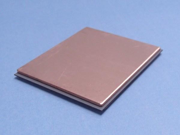 複合材料硬焊後: 下側是陶瓷基板