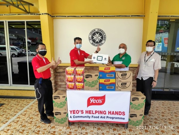 Yeo's and Ng Teng Fong Charitable Foundation Provide RM1 Million Food Aid for 28,000 B40 Families in Malaysia through 'Yeo's Helping Hands'