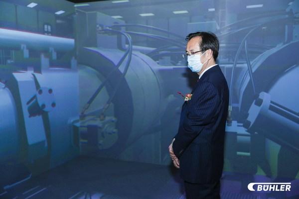 布勒通过空间数字现实技术展示超大型两模板压铸机Carat840/920