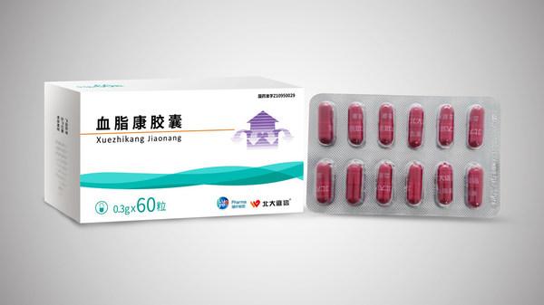 绿叶制药天然调脂药血脂康胶囊60粒新装上市