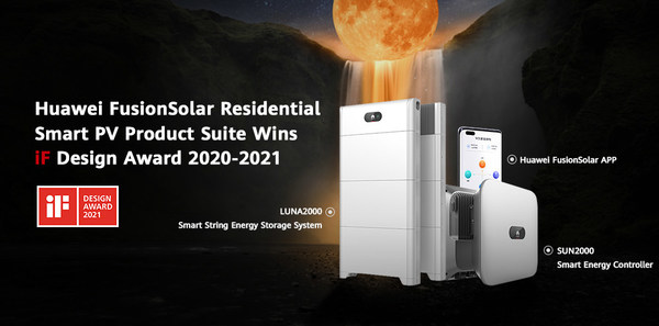 Huawei FusionSolar Residential Smart PV Product Suite Wins iF Design Award