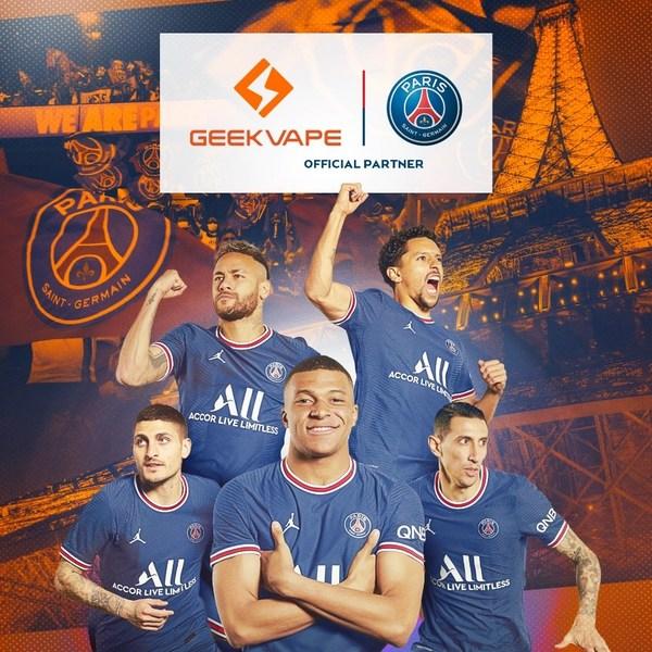 GEEKVAPE AND PARIS SAINT-GERMAIN ANNOUNCE OFFICIAL PARTNERSHIP