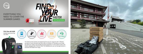 TVU는 24/7 현장 기술 지원, 무료 TVU Anywhere, 도쿄의 실시간 클로즈업, 스튜디오 및 시스템 대여 제공