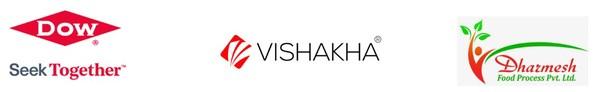 Dow, Vishakha and Dharmesh Foods logos