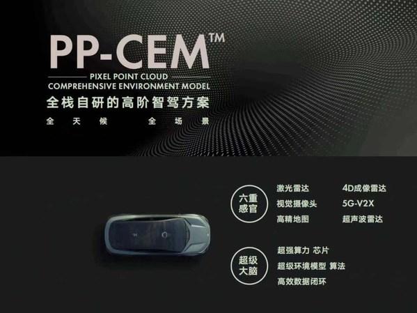 全栈自研的高阶智驾方案PP-CEM(TM)