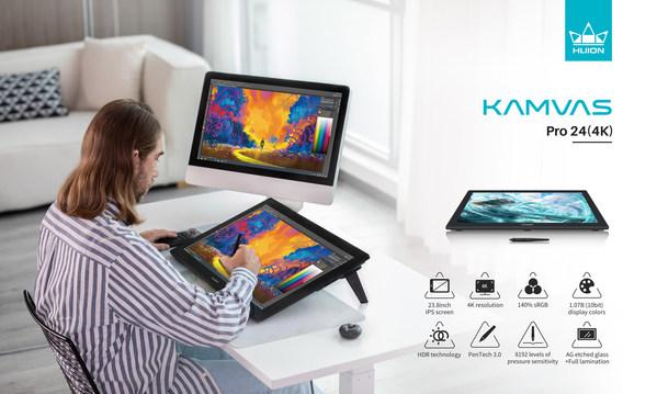 휴이온, Kamvas Pro 24(4K) 포함 23.8인치 펜 디스플레이 3종 출시