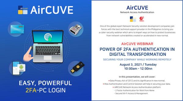 AIRCUVEが2FAセキュリティ・ウェビナーを開催、リモートで働きながら会社を守る
