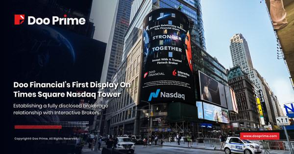 Doo Financial กับครั้งแรกของการแสดงข้อมูลแบบเรียลไทม์ บนบิลบอร์ด Nasdaq ใจกลางนิวยอร์ก ไทม์สแควร์