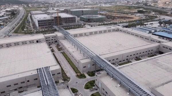泉州三安鸟瞰,包含LED、滤波器和光技术板块的制造