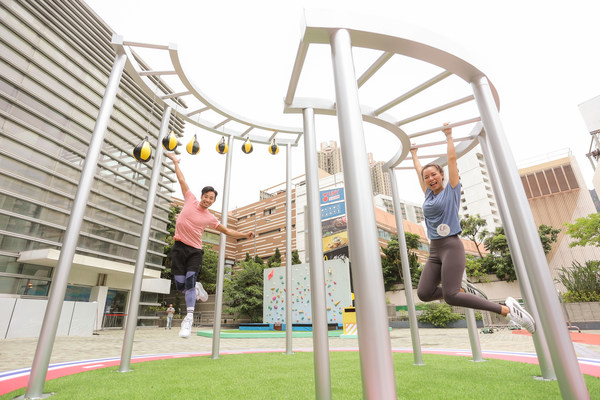 Lok Fu Place Presents the Summer 'SPORTIVAL' Campaign - Virtual Reality Skydiving over Urban Hong Kong