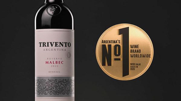 트리벤토(Trivento), 전세계 판매 1위 아르헨티나 와인 브랜드 등극