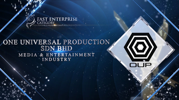 One Universal Production Sdn Bhd was honoured for the Fast Enterprise Award at the Asia Pacific Enterprise Awards 2021 Regional Edition