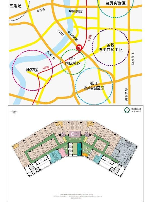 璟創空間-區位圖 璟創空間-辦公室平面圖