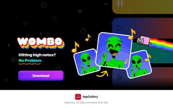 AppGalleryでリリースされるWOMBOが、AIを利用した口パクの楽しさをファーウェイのデバイスで実現