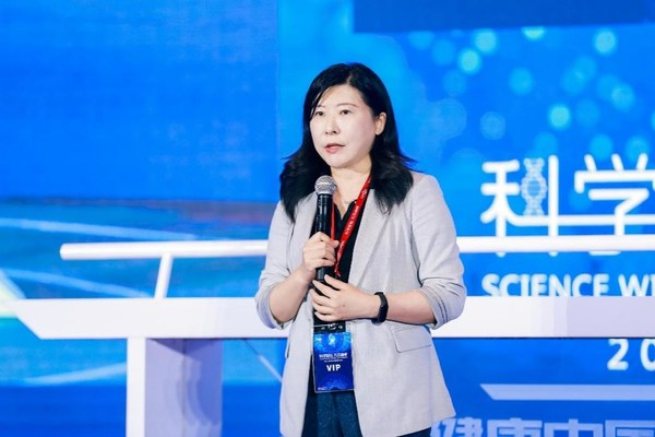 辉瑞生物制药集团中国区市场营销副总裁王怡亲 现场致辞