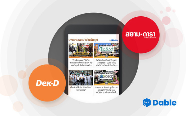 Dable, the Leading Content Discovery Platform, Launches Personalized Content Recommendation Solution in Thailand