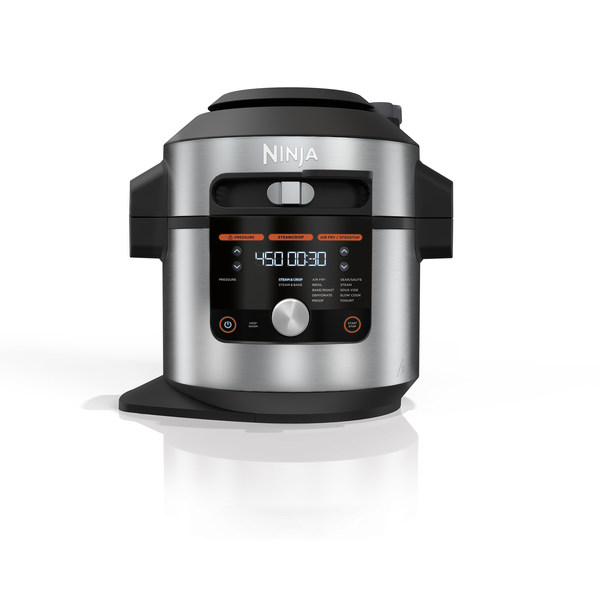 The Ninja®?Foodi® XL Pressure Cooker Steam Fryer with SmartLid™ offers three cooking modes and 14 cooking functions under one lid. It is available in an 8-qt capacity for $329.99 at NinjaKitchen.com.