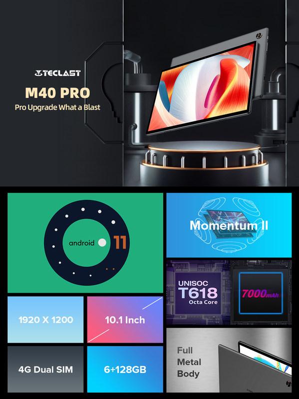 Máy tính bảng M40 bán chạy nhất của Teclast hiện đã được nâng cấp lên phiên bản Pro.