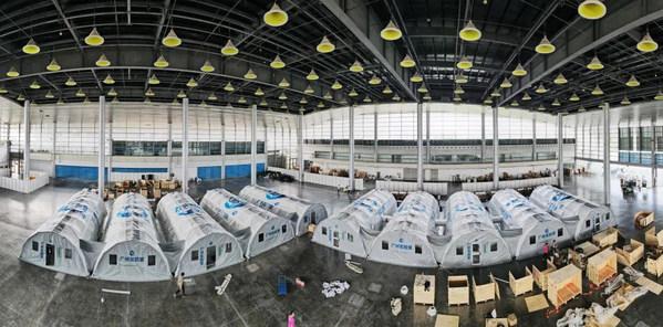 博德维气膜方舱实验室在扬州国际展览中心