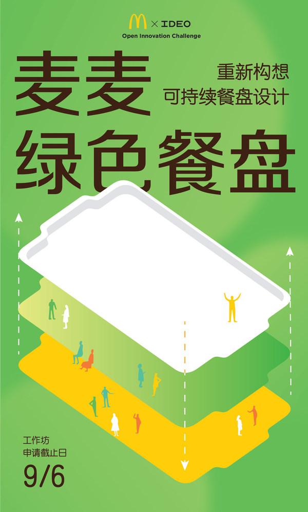 麦当劳中国联合IDEO发起设计挑战,再生塑料变身新餐盘
