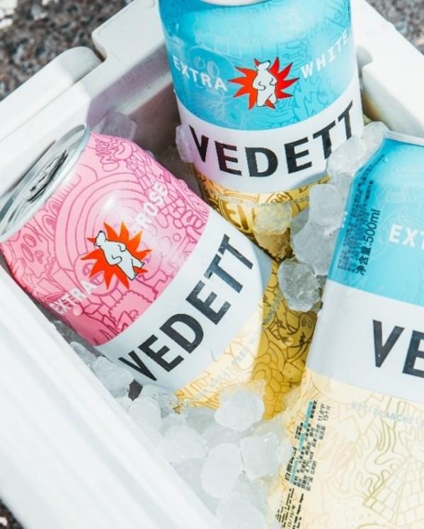 红蓝碰撞 VEDETT罐装白熊玫瑰红啤酒全新上市
