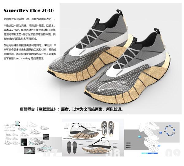 安踏杯中国鞋服设计大赛 鞋类组获奖作品《Superflex Clog 2030》崔铁瀚