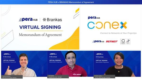 PERA HUB and Brankas launch Southeast Asia's first Digital Remittance Platform, PERA HUB Conex
