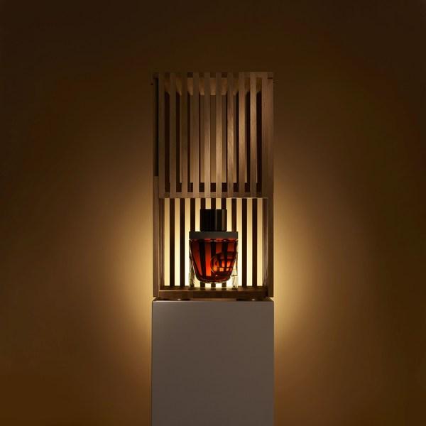 Gordon & MacPhail Generations 80-Years-Old from Glenlivet Distillery. Oak pavilion opens to reveal jewel-like decanter